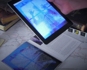 Ice-Bound running on the iPad, showing the augmented reality of our 2014 IndieCade finalist game